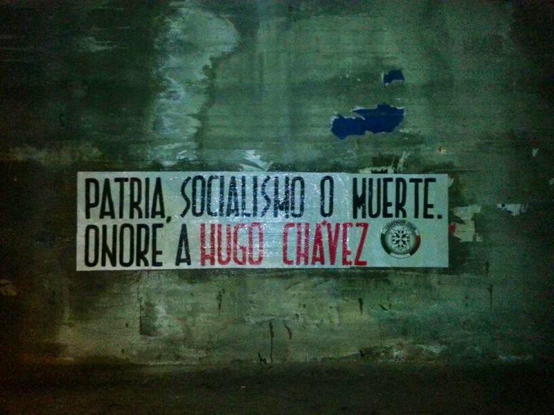 Chavez, CasaPound lo ricorda con striscioni in 50 città
